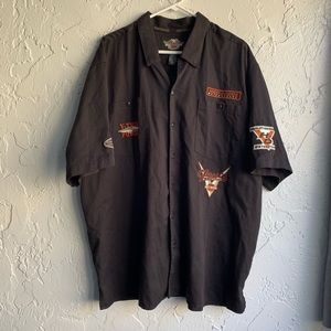 Harley Davidson Men's Button Down Patches